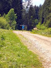 Photo: Unique running style