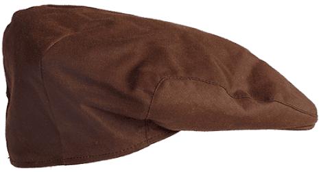 Vaxad keps, brun & mörkblå