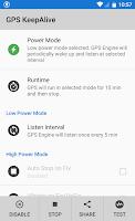 Screenshot of GPS KeepAlive