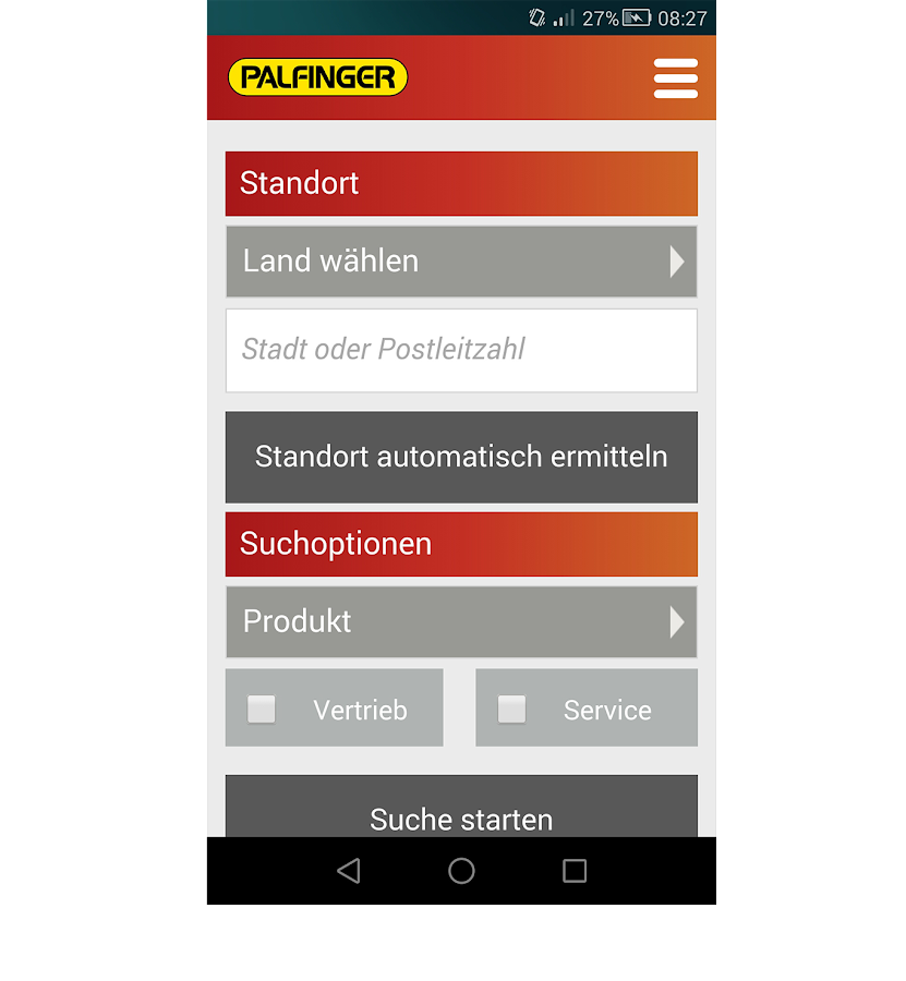 Palfinger Mobile – Screenshot