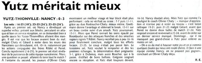 Photo: 04-03-2012 ASVB - Nancy Volley 0-3