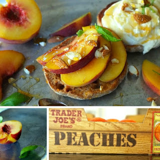 Peach and Burrata Toast