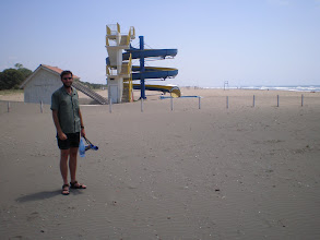 Photo: 20kms of black sand beach at Ulcinj