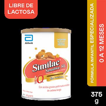 Fórmula Infantil SIMILAC   Sensitive SL Eye Q Sin Lactosa 0-12 Ms. x375g
