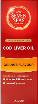 Seven Seas Omega-3 Fish Oil Plus Cod Liver Oil - 300ml