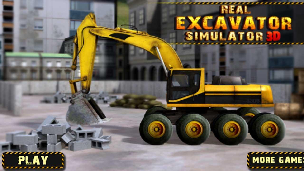 Excavator Real Real Heavy Excavator Crane 3d