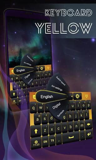 黃鍵盤主題