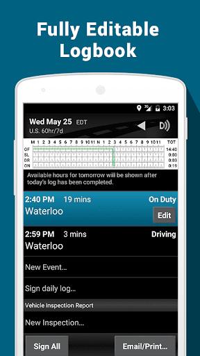 BigRoad Trucking Logbook App screenshot