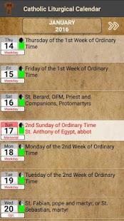Catholic Liturgical Calendar and Prayer Book - náhled