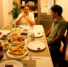Photo: Amir Bhai. Happy to be where the food is.