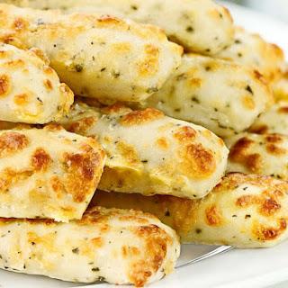 Low Carb Bread - Cheesy Garlic Cauliflower Bread Sticks
