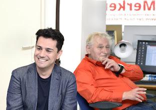 Photo: Künstlergespräch mit Saimir Pirgu (Tenor) am 24. 5.2016. Saimir Pirgu und Anton Cupak Copyright: Barbara Zeininger