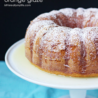 Lemon Bundt Cake with Orange Glaze
