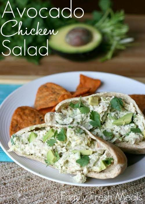 "Click Here for Recipe: Healthy Avocado Chicken Salad ""If you love chicken..."