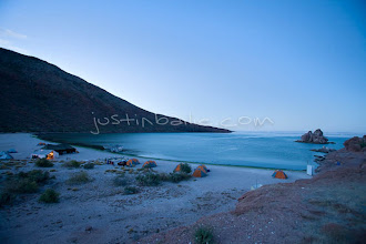 Photo: Scenic of kayak camp on the Sea of Cortez, Mexico