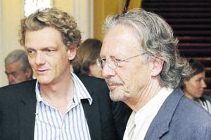 Photo: Herr Oberender, Salzburg Festival Chef & Peter Handke