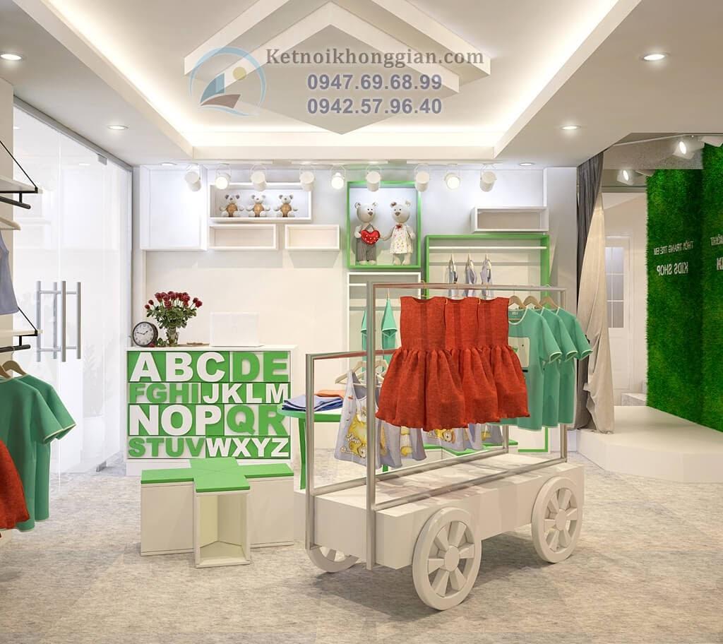 thiết kế shop thời trang trẻ em chất lượng cao và sáng tạo