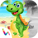 Dinosaurs Scratch & Paint Game icon