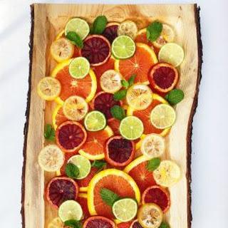 Layered Fresh Citrus Salad with Mint.