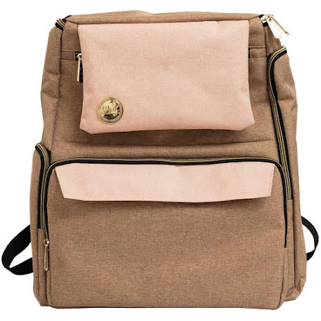 We R Memory Keepers Crafters Backpack - Taupe & Pink