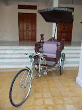 Photo: One man power set of wheels for the rich and famous of Asia. In Hua Hin, Thailand.