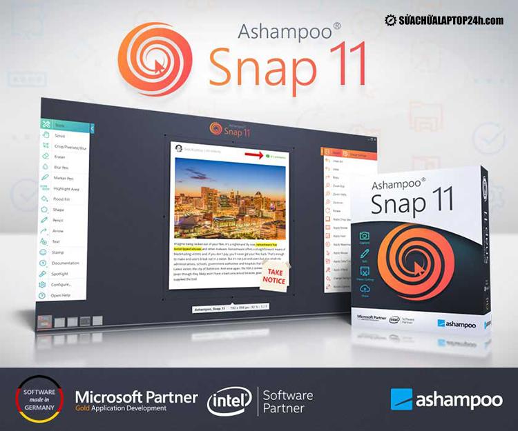Phần mềm Ashampoo Snap