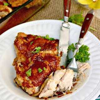 Delicious Honey Mustard Chicken Thighs - Pan Fried and Baked Recipe