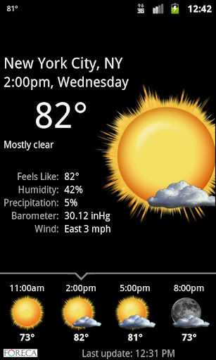 Palmary Weather screenshot 2