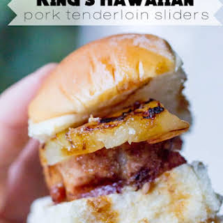 King's Hawaiian Pork Tenderloin Sliders.