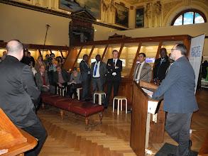 Photo: Christian KOEBERL Directeur du Musée d'Histoires Naturelles de Vienne présente l'exposition Gabonionta en conférence de presse.
