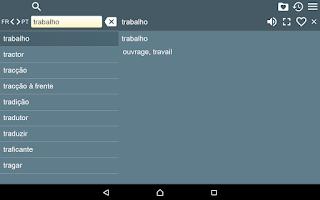Screenshot of French Braz.Portuguese Dict