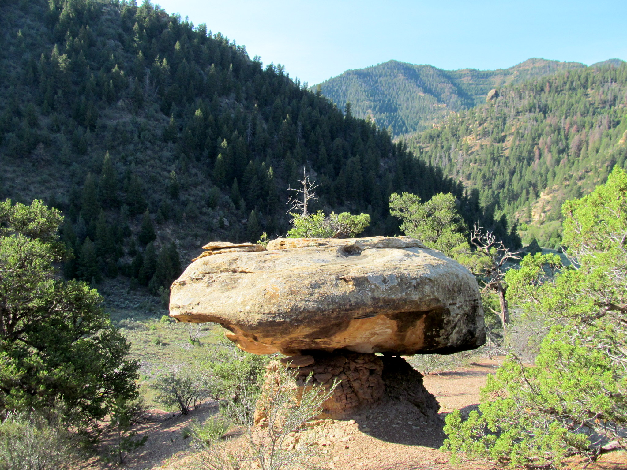 Photo: Boulder on a pedestal