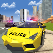 Police Car Stunt Race Driving Simulator 3D