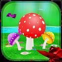 Mushroom & Butterfly 3D live wallpaper icon
