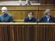 On trial for the Krugersdorp murders are, from left to right, Zac Valentine, Cecilia Steyn and Marcel Steyn.