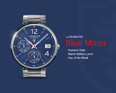 Blue Moon watchface by Liongate- screenshot thumbnail
