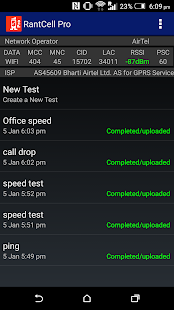 Network coverage & Speed Test- screenshot thumbnail