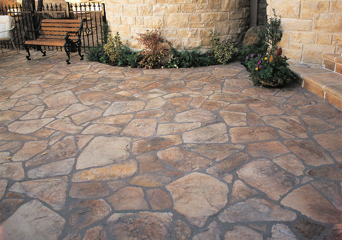 Photo: Random Flagstone has a timeless beauty. This uniquely shaped tile will match almost any architecture and stone veneer. In addition, the shape makes it extremely easy to install.