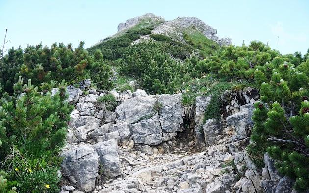 Blick auf Ponten und Steig zum Aufstieg Tirol