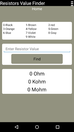 Resistors Value Finder