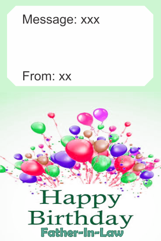 Birthday Card Father In Law screenshots 2