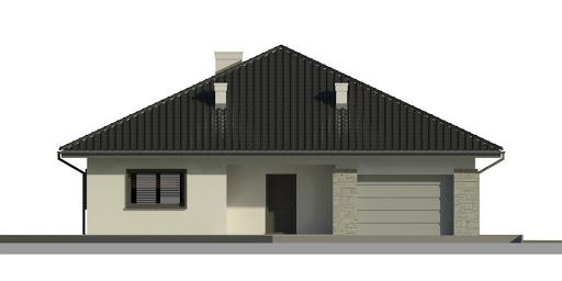 Dom przy Rubinowej 3 - Elewacja przednia