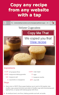 Copy Me That - recipe manager, list, planner
