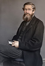 Photo: Alfred Russel Wallace in c. 1869. Photographer: Thomas Sims. Colorized by Edvos (Paul Edwards). Copyright of photo: G. W. Beccaloni.