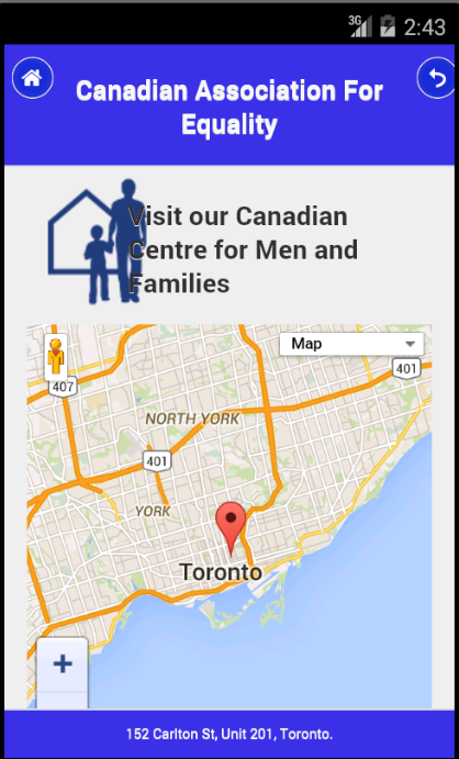 Canadian Assoc. for Equality- screenshot