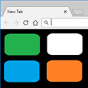 New Tab Custom Colour Blank Page