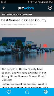 92.7 WOBM Radio - Ocean County- screenshot thumbnail