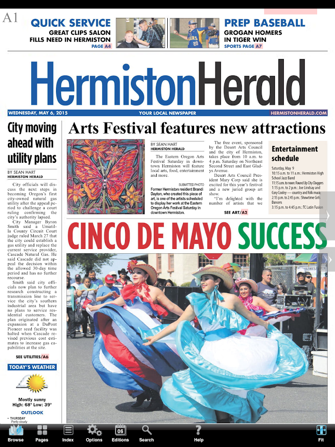 Hermiston Herald e-Edition- screenshot