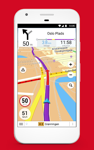 Krak Navigation - offline GPS, Kort & trafik ss1