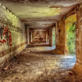 The old base by Ana Paula Filipe - Buildings & Architecture Decaying & Abandoned ( old, decay, building, tunnel, base )